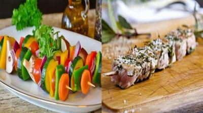 طرز تهیه کباب گوشت و سبزیجات
