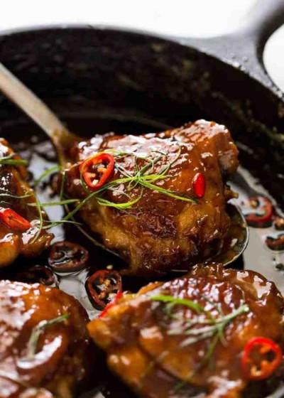 طرز تهیه مرغ کارامل نارگیل ویتنامی