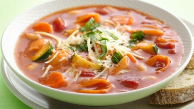 طرز تهیه سوپ مینسترون سبزیجات تازه
