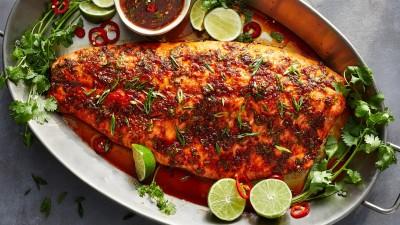 طرز تهیه ماهی قزل آلا با فلفل شیرین