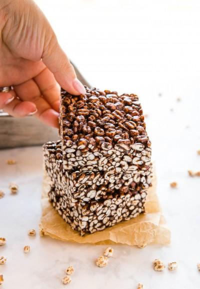 طرز تهیه گندم پفکی شکلاتی