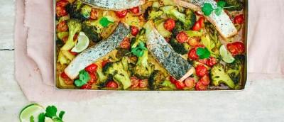 طرز تهیه سینی سبزیجات با ماهی