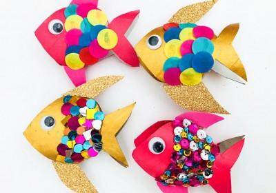 کاردستی و ساخت رول ماهی رنگین کمانی
