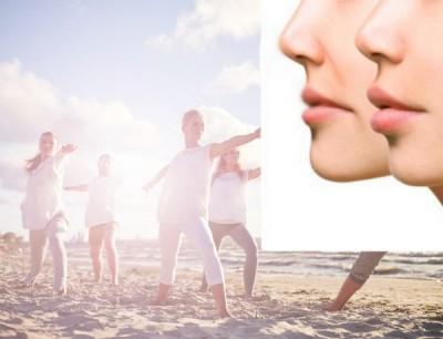 رابطه پوست زیبا و نفس کشیدن