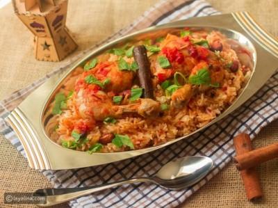 طرز تهیه پلو ادویه دار عربی با مرغ